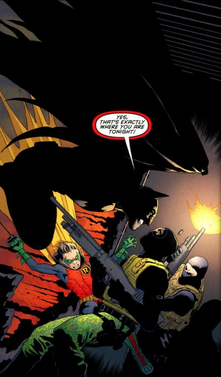 Batman and son Robin (Damian Wayne)