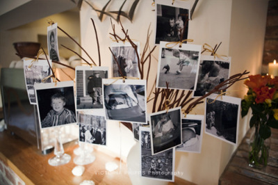 Photo tree! Love this idea for a wedding or a birthday party. Ooh time to get thinking about whose birthday it is next!!