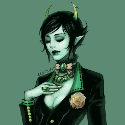 len-yan:  classy kanaya for TFW is concluding my week of daily submissions^^ of course i am going to finish this project with the rest of the trolls but i might miss a day here and there. still, gonna complete it soon so stay tuned~