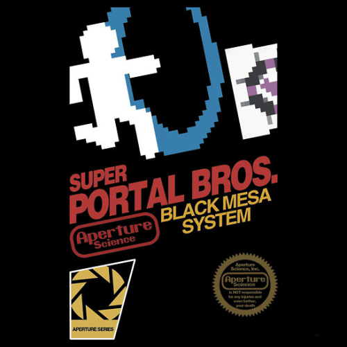 insanelygaming:  Super Portal Bros. - by bomdesignz Available on RedBubble