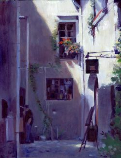 Saint-Paul-de-Vence oil painting
