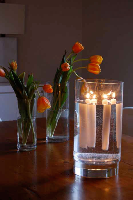 New candle centerpiece idea!