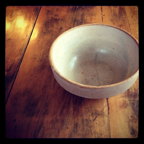 Bread making bowl and table that belonged to my great grandmother. #familyheirlooms #indiana #kentucky (Taken with instagram)