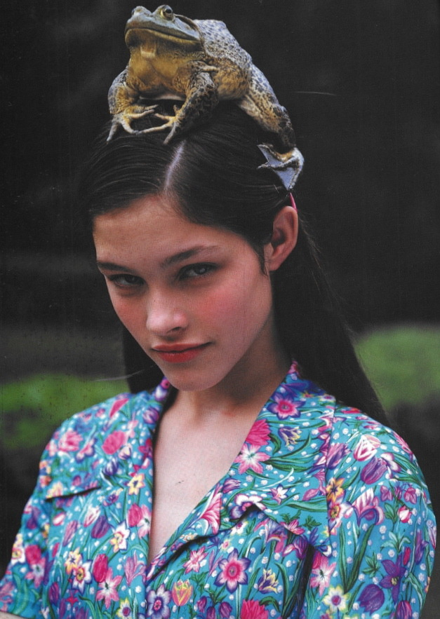 witchesandslippersandhoods:  Lonneke Engel by Bruce Weber for Versus, 1996