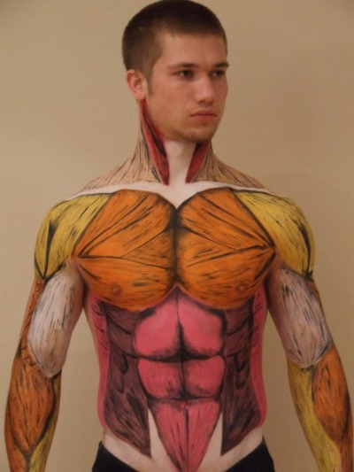 randomologie:  Body paint musculature
