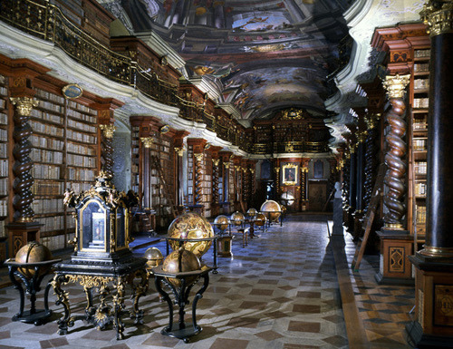 dyingofcute:  Klementinum National Library in the Czech Republic
