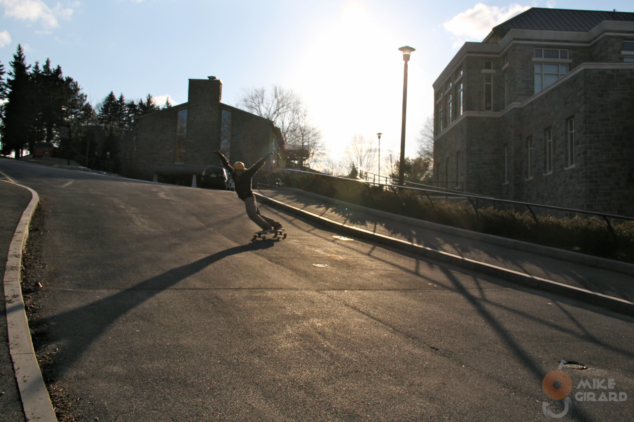 Casting a Shadow. Rider: Nick Burkus, toeside check. Photo by me (Canon 60D). -Mike