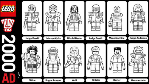 2000 AD Lego Characters. Get voting now, please!  2000adonline:     koko-y-miguel:           This needs to happen.         Unfortunately it needs a few thousand votes and it currently only has   a few dozen. Get voting Squaxx or it'll not come to pass.      Credit for this goes to fan Kevin Levell, who did this as a   commission. ECBT2000AD posted a coloured version:   []: http://2000ad.files.wordpress.com/2011/10/legocolourmaster.jpg