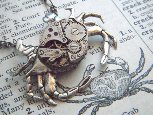 Steampunk Crab Necklace