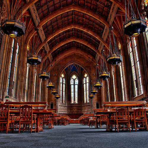 Suzzallo library of the University of Washington in Seattle