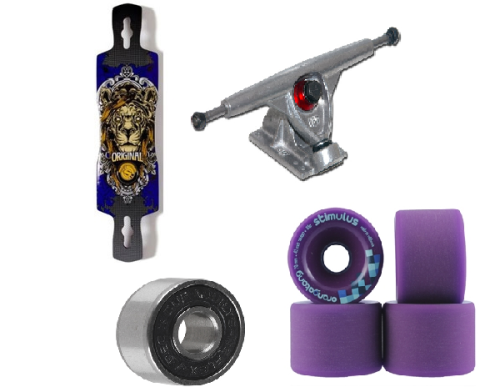 The Longboard setup that i'm ordering :)  Deck: Original Freeride 41 (Rocker Concave) Wheels: Orangatang Stimulus 70mm 83a Trucks: Randal R-II 180mm Bearings: Abec 3 (Speed Lubed)  Total Price (including shipping) = £190