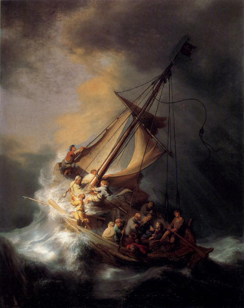 theearofvangogh:  The Storm on the Sea of Galilee [1633] Rembrandt [1606 - 1669]