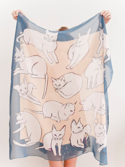 calivintage:  picasso cats scarf by leahgoren on etsy.