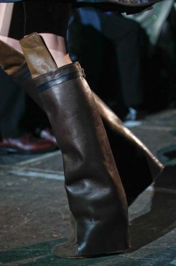 The boots at Givenchy, up close.