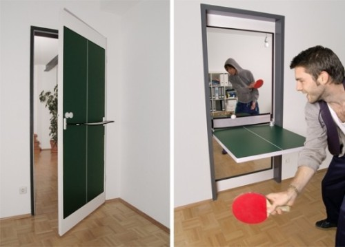 As much as we would like to own a ping-pong table at home, we can't. Either because we won't have space to store it or we don't have enough money.  But why would you want to buy one? When instead you can do this!
