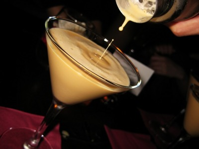 BRANDY ALEXANDER 1oz cognac1oz creme de cacao dark1oz cream (or more. depending on your taste) shake it up into a cocktail glass and garnish with nutmeg