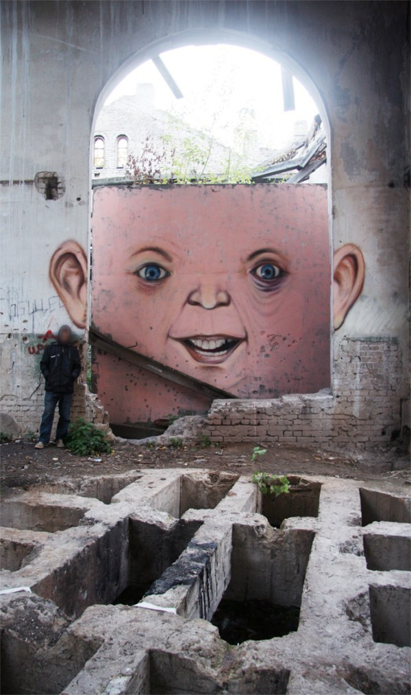 fantastic. agarforth:  street artist Nomerz brings bricks to life