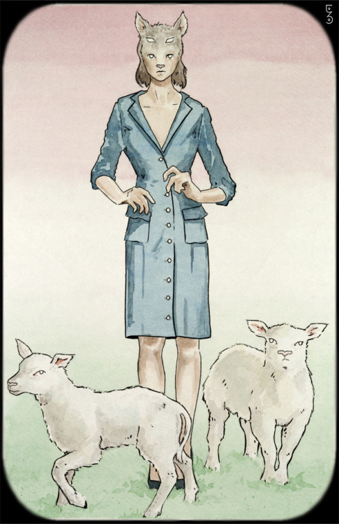 Lambs Watercolor and ink painting by me