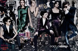 DOLCE & GABBANA 2011 FW Steven Klein - Photographer Tabitha Simmons - Fashion Editor/Stylist Constance Jablonski - Model Isabeli Fontana - Model Jac Jagaciak - Model Kate King - Model Liu Wen - Model Maryna Linchuk - Model