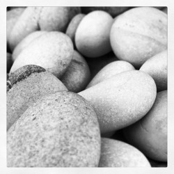 #pebbles #rock #macro #piedra #black #white (Taken with instagram)