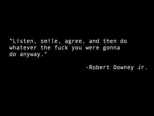 Good advice from ole Robert D