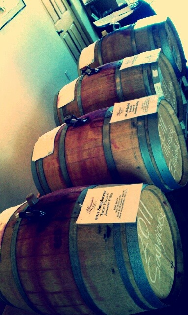 Barrel Tasting 2012. Sonoma County, CA.