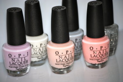 fuckyeahprettynails:  OPI New York City Ballet 2012 SoftShades Collection From left to right: Care To Danse?, Don't Touch My Tutu!, Barre My Soul, My Point Exactly, You Callin' Me A Lyre?, Pirouette My Whistle (via ommorphiabeautybar)