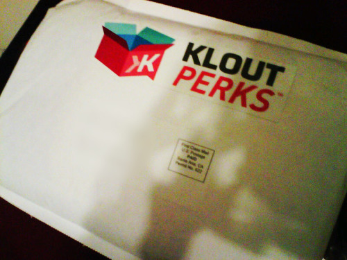 Free stuff is nice. hey now, Klout.
