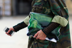 Camo x Christopher Kane clutch