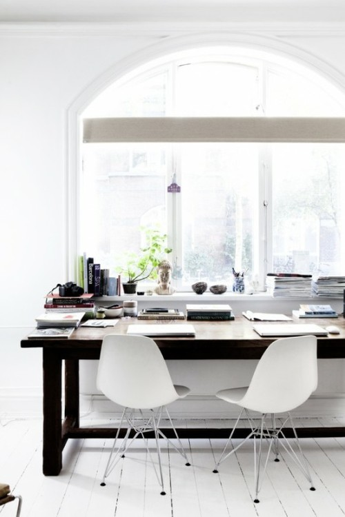 myidealhome:   workspace near a bright window (via home working space)