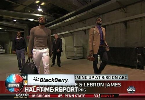gotemcoach:  Here's a photo of LeBron's purse thing, and Wade's medium shirt. @gotem_coach (via @HoopsMixTape)