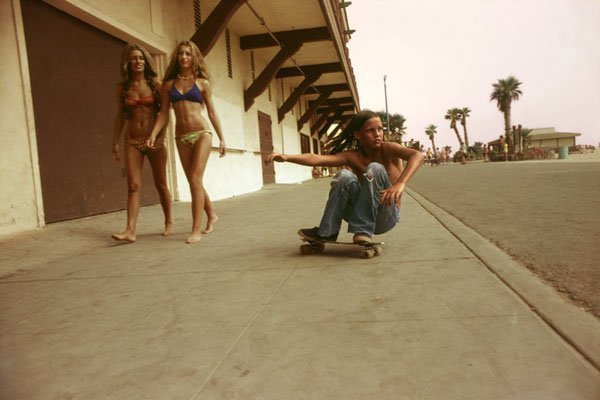 Hugh Holland, Sidewalk Surfer, Huntington Beach, 1976