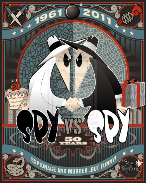 laughingsquid:  Spy vs. Spy 50th Anniversary  Frak YEAH!