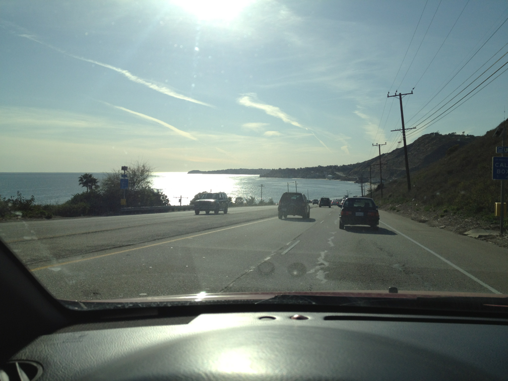 Sunday drive on PCH in Malibu