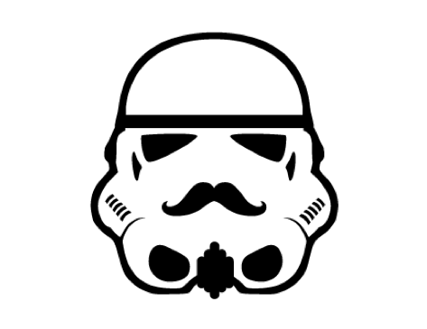 corealiscreative:  StacheTrooper | by Rogie This isn't the mustache your looking for…