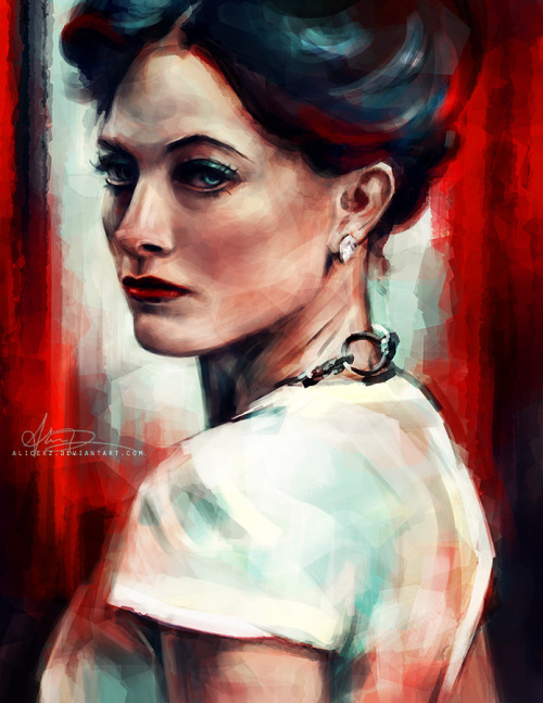 alicexz:  Irene Adler painting, officially to go with my set of Sherlock character portraits. Prints available at my Society6 shop!