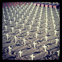 #crosses #death #memorial #santamonica (Taken with instagram)