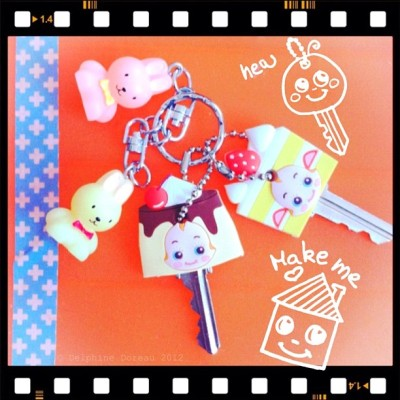 New cutie pies for my keys #cute #かわいい #signote  (Taken with instagram)