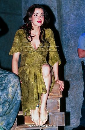 Tina Arena (Esmeralda) backstage - British Production