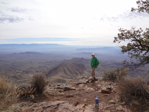I'm back from Big Bend.  I survived backpacking for three days, at least 19ish miles of hiking, climbing a mountain, swimming in the Rio Grande, and not showering for about a week …  I want so much to post about this life-altering experience, but after a week away from school work, internship applications, clubs, and technology in general I unfortunately barely have time to even post this. In the meantime, enjoy this picture of me at the South Rim!