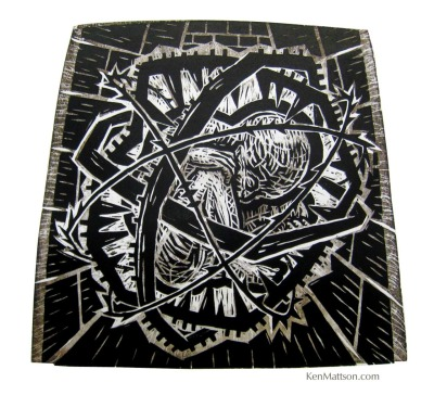 marriedtothemuse:  I've been making woodcuts again this week. Here's one from 1996.
