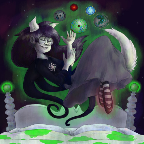 My entry for the track art contest. Featuring one god tier Jade Harley. So much fun coloring this. C: