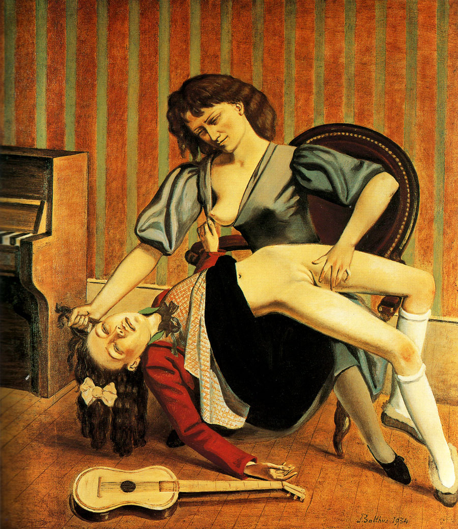 cavetocanvas:  Balthus, The Guitar Lesson, 1934