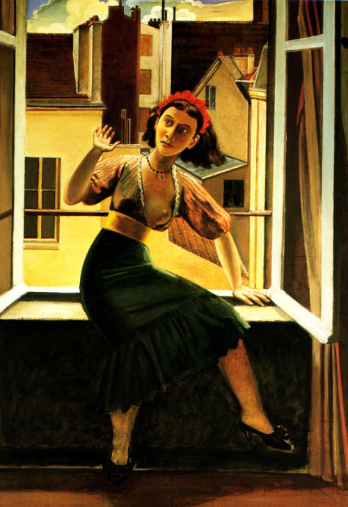 nymphlight, cavetocanvas:  Balthus, The Fear of Ghosts, 1933.