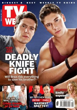 MAGAZINE COVER OF THE DAY - 'TV WEEK' (HOME & AWAY'S STEVE PEACOCKE & LINCOLN YOUNES) Image Source: TV Week