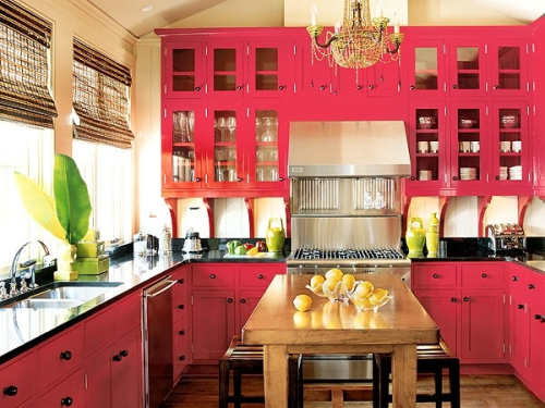 rachaellynnbosen:  My reaction: OMG. It's a pink kitchen! IT'S A PINK KITCHEN! IT'SAPINKKITCHEN!!!  I WANT IT.