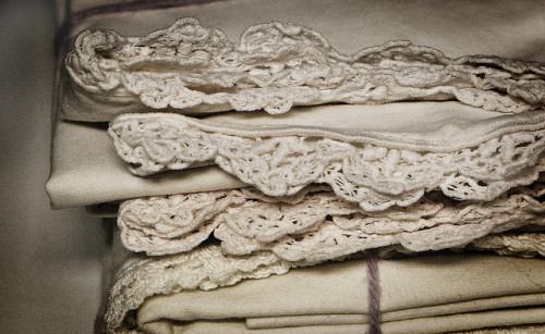 blissful-neutrality:  Vintage Linens by dphock on Flickr.