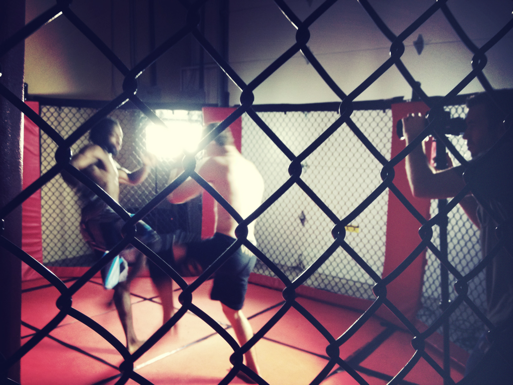 We're in the cage, shooting some of Edmond OK's best fighters tonight. #mma