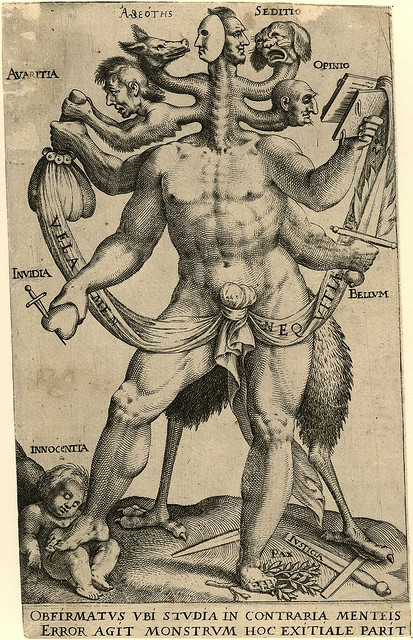 toxidermist:  Allegory of the Five Obstinate Monsters (c. 1575 - 1618) - Anon. by peacay on Flickr.