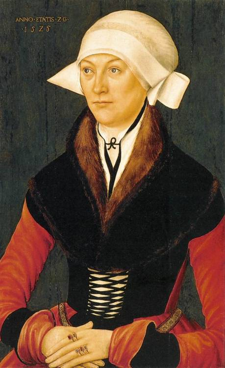 missfolly:  Portrait of a Woman, 1525, by an unknown German master   Striking…